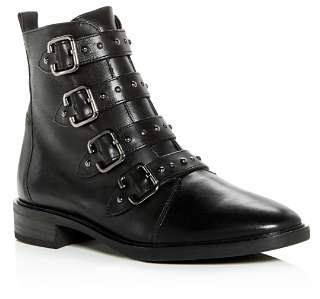 Paul Green Women's Vega Studded Strap Leather Booties