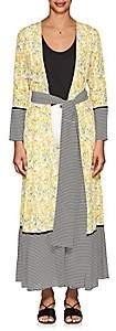 Leone WE ARE Women's Floral Silk Belted Maxi Cardigan-Yellow