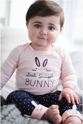 Carter's Carter Baby Girls 3-Pc. Cotton Bunny Bodysuits & Pants Set