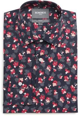 Bonobos Pearl Slim Fit Stretch Floral Dress Shirt