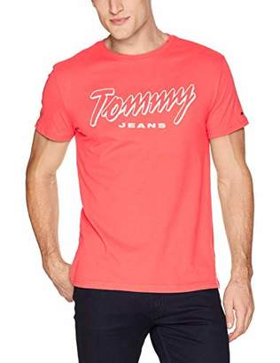Tommy Hilfiger Tommy Jeans Men's T Shirt Short Sleeve Graphic Logo Tee