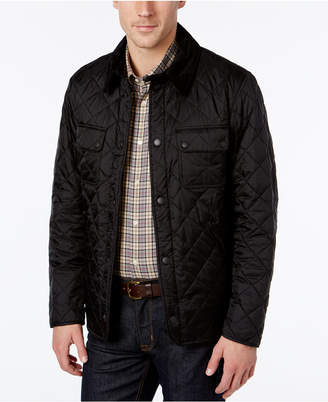 Barbour Men's Diamond Quilted Bomber Jacket $179 thestylecure.com