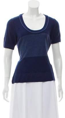 Sonia Rykiel Wool Short Sleeve Top w/ Tags