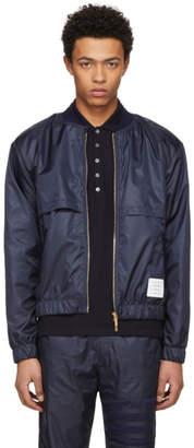 Thom Browne Navy Ripstop Bomber Jacket