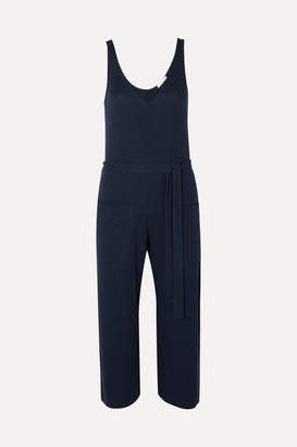 Skin Belted Jersey Jumpsuit