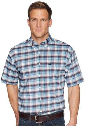 Cinch Athletic Plaid Short Sleeve Men's Short Sleeve Button Up