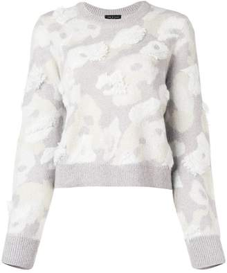 Rag & Bone fur round neck jumper