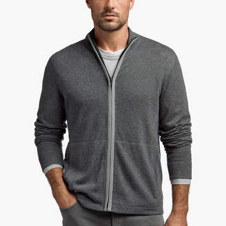 James Perse SEMI WORSTED CASHMERE ZIP-UP