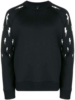 Neil Barrett lightning bolt-print sweatshirt
