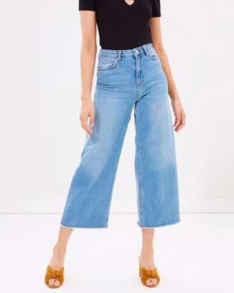 Miss Selfridge Wide Leg Crop Jeans