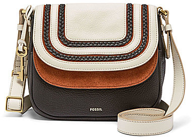 Fossil Fossil Peyton Braided Double-Flap Cross-Body Bag