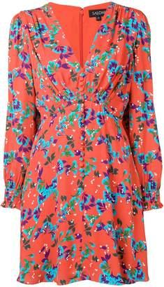 Saloni floral mini dress