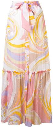 Emilio Pucci tie waist long skirt