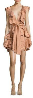 Zimmermann Winsome Striped Ruffle Dress $800 thestylecure.com