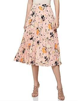Reiss Andi-Pink Floral Skirt