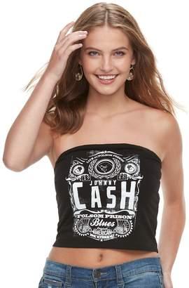 The Print Shop Juniors' THE PRINT SHOP Johnny Cash Tube Top