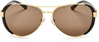 Tory Burch Women's Brow Bar Aviator Sunglasses, 61mm