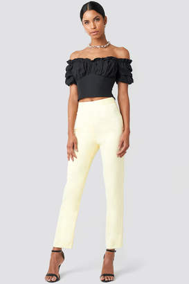 NA-KD Anna Nooshin X Tailored Ankle Suiting Pants Yellow