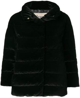 Herno concealed fastening padded jacket