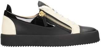 Giuseppe Zanotti Black Leather Sneakers
