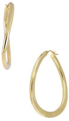 Bony Levy 14K Yellow Gold Curved 40mm Hoop Earrings