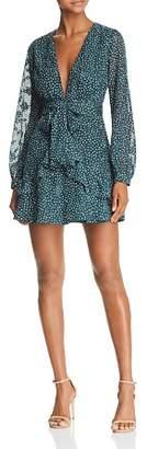 DAY Birger et Mikkelsen Sage the Label Layla Ruffled Polka Dot Mini Dress