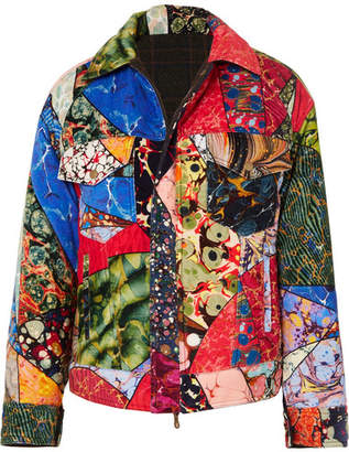 Rosie Assoulin Reversible Printed Cotton-velvet And Wool Jacket - Red