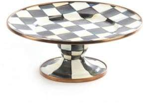 Mackenzie Childs MacKenzie-Childs Courtly Check Mini Pedestal Platter
