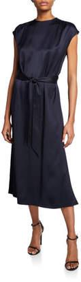 Loro Piana Dyra Silk-Satin Tie-Waist Dress