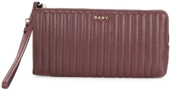 DKNY quilted clutch bag