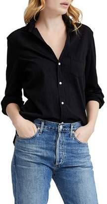 Frank And Eileen Button-Down Long-Sleeve Cotton Shirt, Black