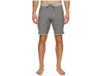 VISSLA Bordertown Four-Way Stretch Heathered Boardshorts 18.5 Men's Swimwear