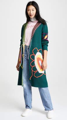 Mira Mikati Knit Flower Coat