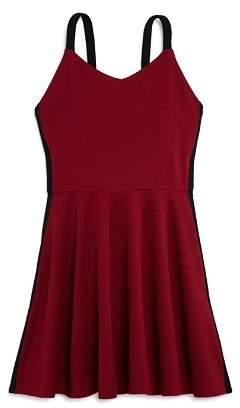 Aqua Girls' Textured Side-Stripe Dress, Big Kid - 100% Exclusive