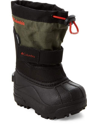 Columbia Toddler Boys) Black & Spicy Powderbug Plus II Snow Boots