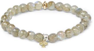 Peyote Bird Labradorite, Sterling Silver And 14-Karat Gold Bracelet