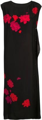 Yohji Yamamoto floral print button front dress