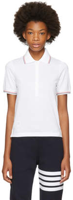 Thom Browne White Short Sleeve Polo