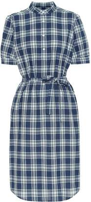 A.P.C. Clea checked cotton midi dress