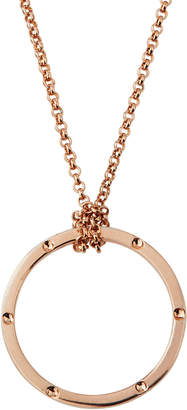 Alex Woo Sienna 14k Rose Gold-Plated Open-Circle Pendant Necklace
