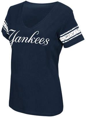 New York Yankees G-iii Sports Women's First Pick Sleeve Stripe T-Shirt