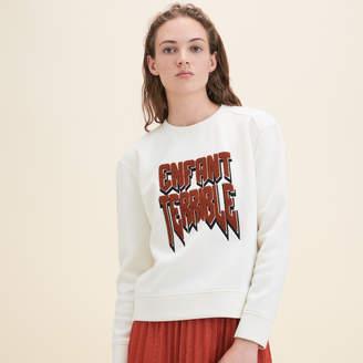 Maje Neoprene Sweatshirt