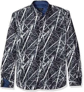 Bugatchi Men's Fitted Long Sleeve Button Down Woven Shirt