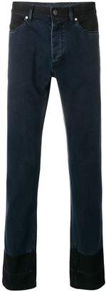 Lanvin two tone slim fit jeans