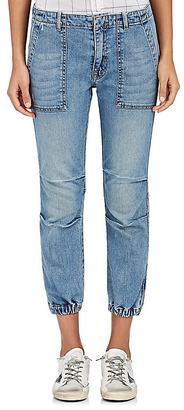 Nili Lotan Women's Military Crop Jeans $365 thestylecure.com