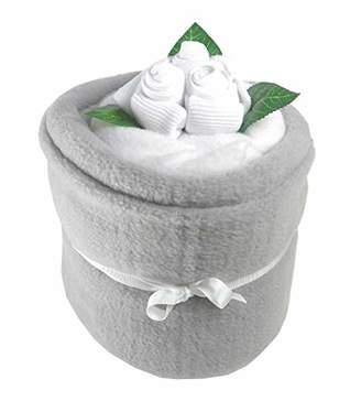 Say It Baby Unisex Silver Say it Baby Blanket Bouquet