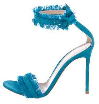 Gianvito Rossi Fringe-Trimmed High-Heel Sandals