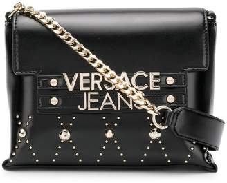 Versace logo plaque crossbody bag
