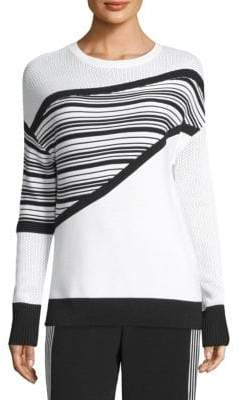 St. John Engineered Stripe Sweater