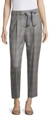 Peserico Plaid Pleated Pants